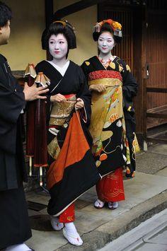 Geiko Katsuya and Maiko Katsuna, Kamishichiken