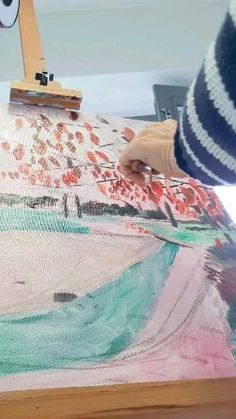 Painting in progress by artist Nina Albrecht. Visit systerhenry on IG for more. Beach Mat, Outdoor Blanket, Videos, Artist, Painting, Home Decor, Decoration Home, Room Decor, Artists
