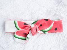 Watermelon Organic Cotton Knotted Headband/ Infant by LittleElske