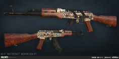 "ArtStation - Call of Duty: Modern Warfare Remastered | ""Mastercraft"" Assault Rifle Weapon Skin Kit, Katie Sabin"