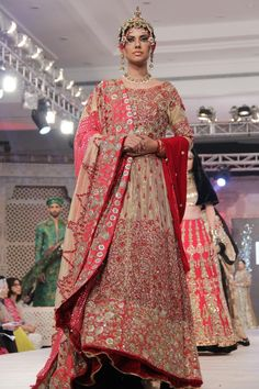 Anarkali by Ali Xeeshan at PFDC LOreal Paris Bridal Week 2014