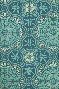 could hand dot it with orange and gray....  -Piccadilly Tiled Wallpaper / Aqua | Cole and Son Albemarle Collection