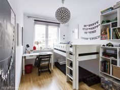 the boo and the boy: a shared girls' room and a shared boys' room in warsaw