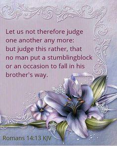 Romans 14:13 KJV