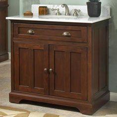 Sagehill Designs Somerset Meuble-lavabo en bois massif de 36 po Source by bongobird Dark Wood Bathroom, Wooden Bathroom Vanity, 36 Inch Bathroom Vanity, Wood Sink, Kitchen Vanity, Small Bathroom Vanities, Wood Vanity, Vanity Cabinet, Vanity Sink