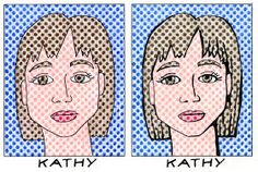 Art Projects for Kids: Lichtenstein Style Portraits - dot template