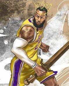 King Lebron James, Lebron James Lakers, Lebron James Wallpapers, Nba Wallpapers, Basketball Art, Detroit Pistons, Sports Art, Nba Players, Los Angeles Lakers