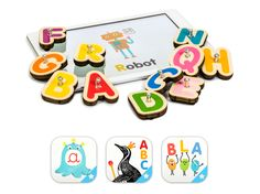 Smart Letters is an awesome connected toy that combines 3 educational apps and 26 interactive wooden letters to help kids to learn reading and writing. Learning Games For Preschoolers, Preschool Learning, Free Educational Apps, Digital Play, Spanish Alphabet, Word Sentences, Writing Words, Help Kids, Ipad Tablet