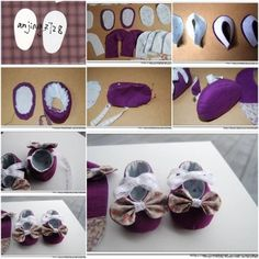 DIY Baby Shoes Tutorial.  See this tutorial here