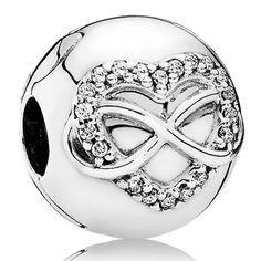 Abalorio Clip Pandora plata Corazón Infinito 791947CZ