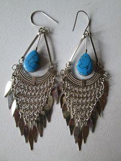 1 Paar Ohrringe aus Peru handgemacht  Nr.5 Folklore Folkloreschmuck Schmuck Ohr