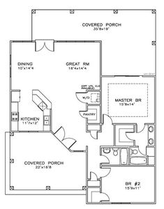 Cottage Florida Southern House Plan 59367 Level One