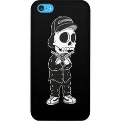 Tribes The West Coast Gangsta Skull IPhone Case (IPhone 5,5s) ($35) ❤ liked on Polyvore featuring accessories, tech accessories, phone cases, phones, case, black, iphone case, tribal pattern iphone case, iphone sleeve case and iphone tribal case