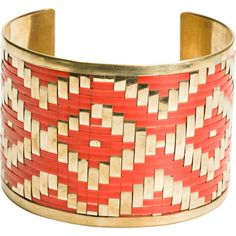 Zad Multi Color Woven Cuff ($24) ❤ liked on Polyvore