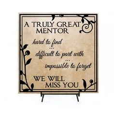Truly Great Mentor - Retirement Sign A Truly Great Mentor - Personalized Retirement Gift, Thank you, Appreciation Gift, Thank you quote, We will miss you by LEVinyl on Etsy Retirement Messages, Personalized Retirement Gifts, Retirement Quotes, Teacher Retirement, Retirement Cards, Retirement Parties, Retirement Ideas, Early Retirement, Principal Retirement