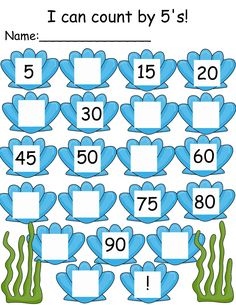 The Crazy Pre-K Classroom: Under the Sea: Ocean Themed Math and Literacy Unt Kindergarten Math Worksheets, Worksheets For Kids, In Kindergarten, Maths, Skip Counting By 5, Kids Learning Activities, Teaching Kids, Learning Tools, Fun Learning
