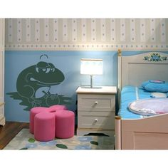 Style and Apply Frog King Wall Decal Art Home Decor ( 12in x 10in)