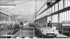Lamborghini Islero and Espada assembly line, slow pace. Lamborghini Islero, Lamborghini Factory, Bugatti, Sesto Elemento, The Italian Job, Assembly Line, Raging Bull, Car In The World, Exotic Cars