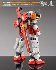 GUNDAM GUY: MG 1/100 XXXG-01H Heavyarms Gundam + Crossweapons - Custom Build