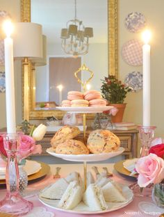 Galentine's Day Tea Party Afternoon Tea Party Decorations, Afternoon Tea Table Setting, Tea Party Setting, Afternoon Tea Parties, Tea Party Desserts, Tea Party Table, Tea Table Settings, Vintage High Tea, Princess Tea Party