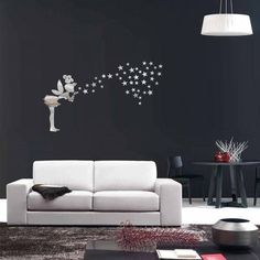 10.99$  Watch now - http://diw1n.justgood.pw/go.php?t=206479802 - Fairy Star Acrylic Mirror Living Room Wall Stickers 10.99$