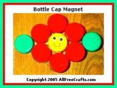 plastic bottle top art