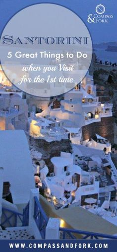 Looking for Glitz and glamour in the Greek Islands- visit Santorini #greekislands #santorini #greece #bucketlist #travel  Santorini: 5 Great Things to Do When Visiting for the First Time https://www.compassandfork.com/santorini-5-great-things-visiting-first-time/?utm_campaign=coschedule&utm_source=pinterest&utm_medium=Compass%20and%20Fork-%20Food%20and%20Travel&utm_content=Santorini%3A%205%20Great%20Things%20to%20Do%20When%20Visiting%20for%20the%20First%20Time