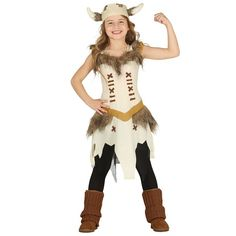 Viking Girls Fancy Dress Saxon Warrior Kids Medieval World Book Day Costume Costume Viking, Medieval Costume, Childrens Halloween Costumes, World Book Day Costumes, Fancy Dress For Kids, Handfasting, Party Dress, Outfits, Dresses