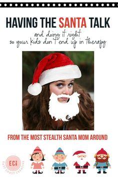 Having the Santa Talk- How one mom used