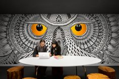 Wouldn't you want to work in a place like this? We take a peek at some of the coolest murals from design offices around the world...