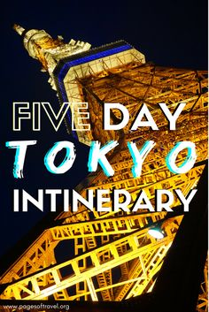 Welcome to the hustle and the neon lights of TOKYO, Japan. Have a few days to spend? This itinerary will give you a good start.