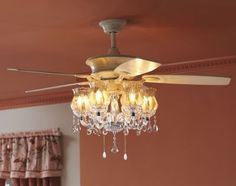 Master Bedroom: Ceiling Fan With A Chandelier