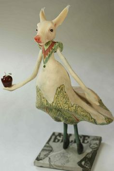 Pig with Red Apple by the Filigree