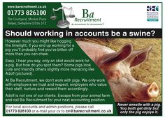 Should working in accounts be a swine? #Recruitment #Jobs