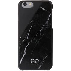 Native Union Clic Marble iPhone 6 Case - Black (1.556.465 IDR) ❤ liked on Polyvore featuring accessories, tech accessories, black and native union