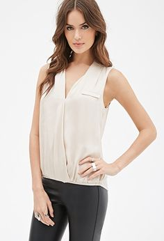 Forever 21 is the authority on fashion & the go-to retailer for the latest trends, styles & the hottest deals. Shop dresses, tops, tees, leggings & more! Work Fashion, Fashion Outfits, Surplice Top, Satin Top, Work Tops, Latest Trends, Casual Dresses, Forever 21, How To Wear