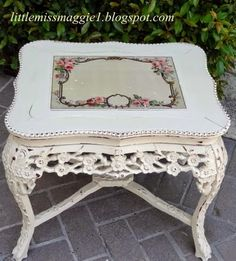 LittleMissMaggie: Shabby Carved Table