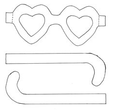 * Hartjesbril! Uitprinten op rood papier. Voorzichtig uitknippen en uitprikken. Cellofaanpapier als glaasjes.