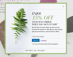 Great Example of an email signup. #popup