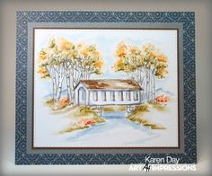 art impressions watercolor rubber stamps