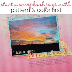 Video Blog | Let Patterned Paper and Color Decide Your Scrapbook Page Story | Get It Scrapped