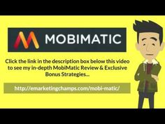 MobiMatic Review - https://www.youtube.com/watch?v=xb1B44U1kzE - MobiMatic Bonus - Decide beforehand if you want ads published in your ezine. Don't throw in surprises at your readers. Don't write lengthy, stretchy and repetitive articles in your ezine. Don't pile up your ezine with too much information.  Even if you have a lot of information to share, be patient and share it in bits and pieces, so that you don't bombard your readers.