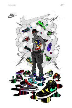 T-shirts for Nike / Footlocker store - Europe