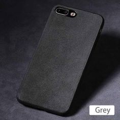 Luxury Suede Leather Iphone Cases - 18-Grey / For iPhone 7