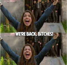 We're back, Bitches! ~ Octavia - The 100 Best Tv Shows, Best Shows Ever, Movies And Tv Shows, The 100 Cast, The 100 Show, Bellarke, The 100 Serie, Lexa E Clarke, The 100 Quotes