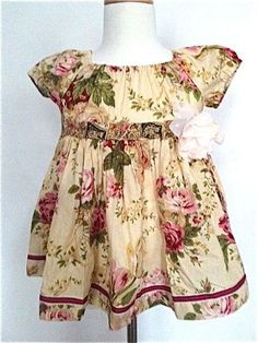 Matilda Jane Platinum Cottage Rose Size 4 Peasant Tunic Top Dress 2 4 NEW | eBay