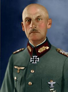 Field Marshal Wilhelm Josef Franz Ritter von Leeb was not among Hitler's favorites. Before the Battle of France, von Leeb was the only German general to oppose the offensive through the (neutral) low countries on moral grounds. For Barbarossa, von Leeb was given command of Army Group North but in Jan 1942 he was relieved of command upon his own request. He was never recalled to duty after that. He died in 1956.