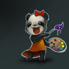 panda art | Panda-painter by nightgrowler on deviantART