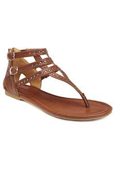 8abe9b4c51cc Plus Size Emily Studded Gladiator Sandals