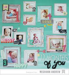 cute with each frame devoted to a month